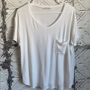 Grace and lace comfy white pocket tee